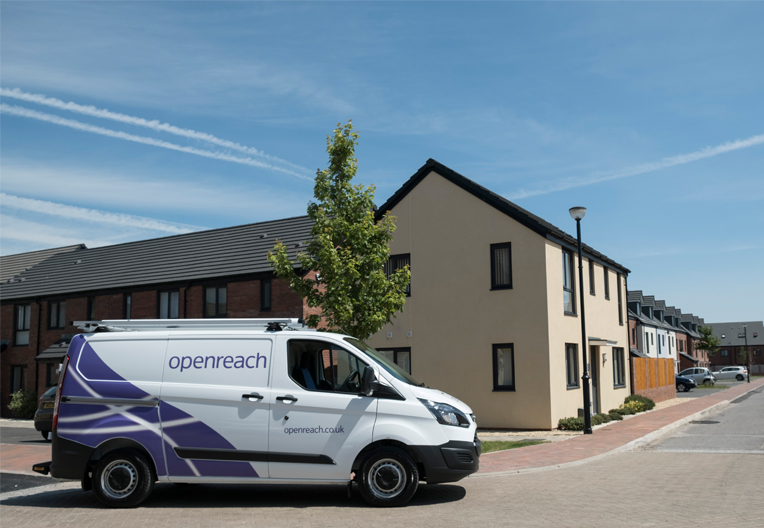 Image of Openreach van on new development