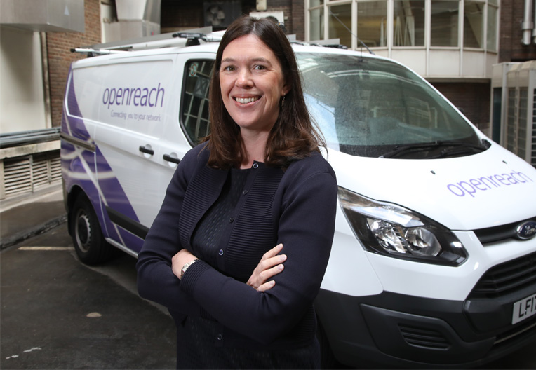 Catherine Colloms by Openreach van